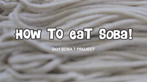 photo:How to eat SOBA?