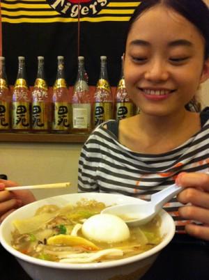 photo:ゆったんとタン麺。んで、タイガース