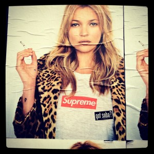 photo:Supreme × Kate Moss × got soba?