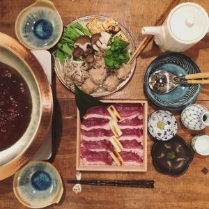 photo:奈良産鴨鍋はじまりました